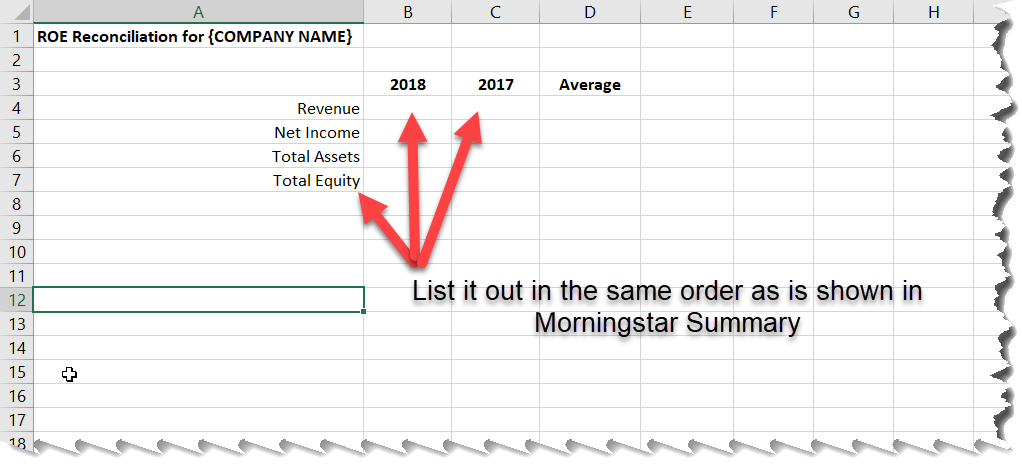 Spreadsheet Template for Financial Summary Info