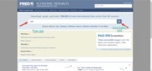 FRED Search Option Search for gdp
