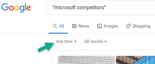 Google Search Time Slot Choice