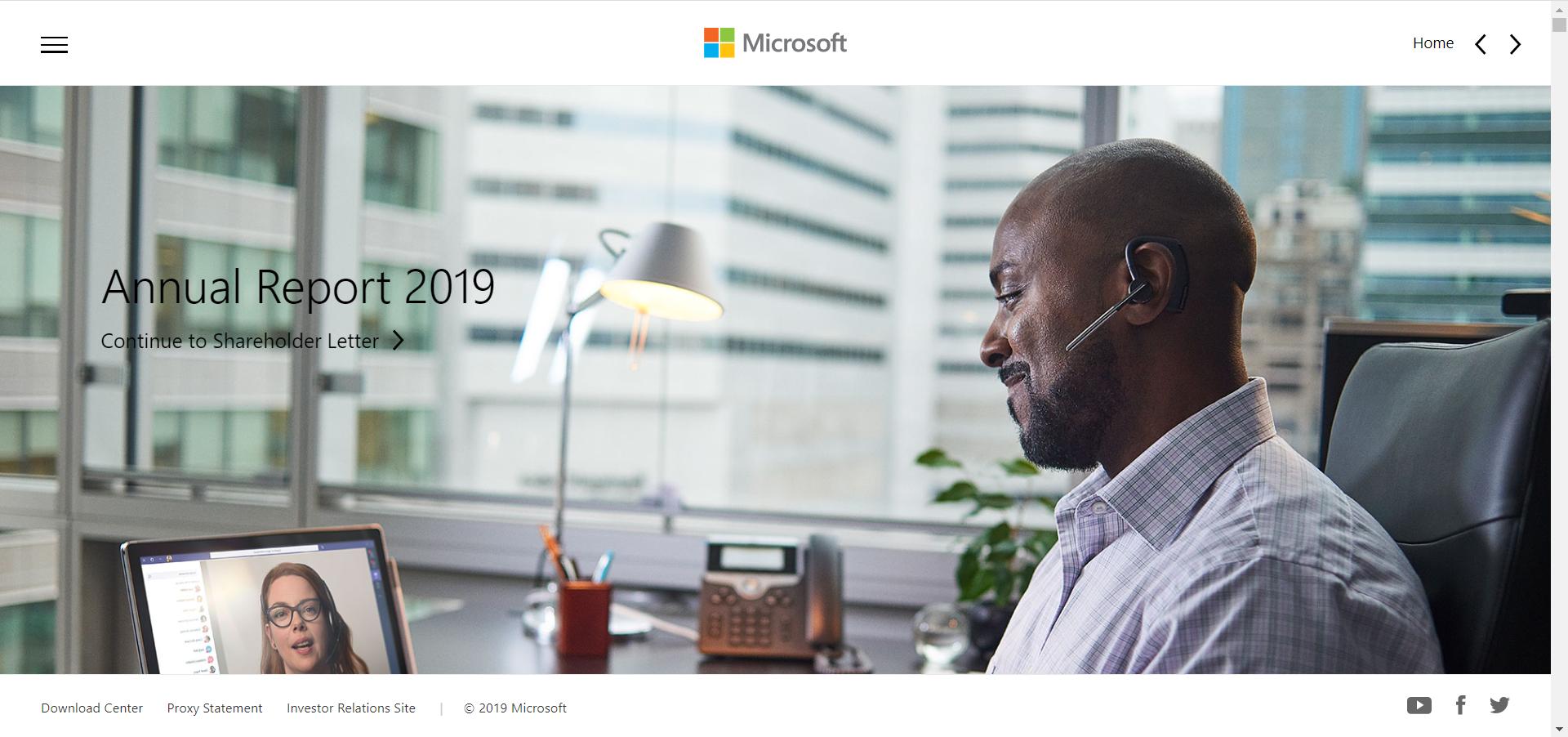 Microsoft Annual Report Top