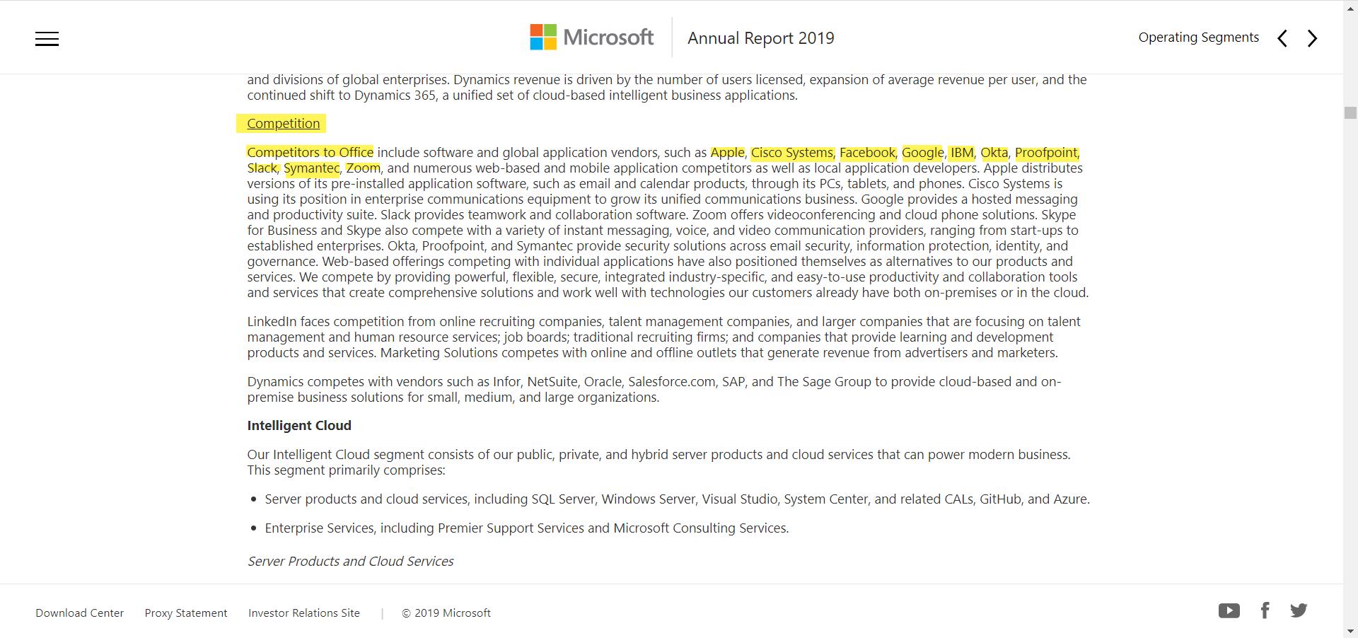 Microsoft Office Competitors