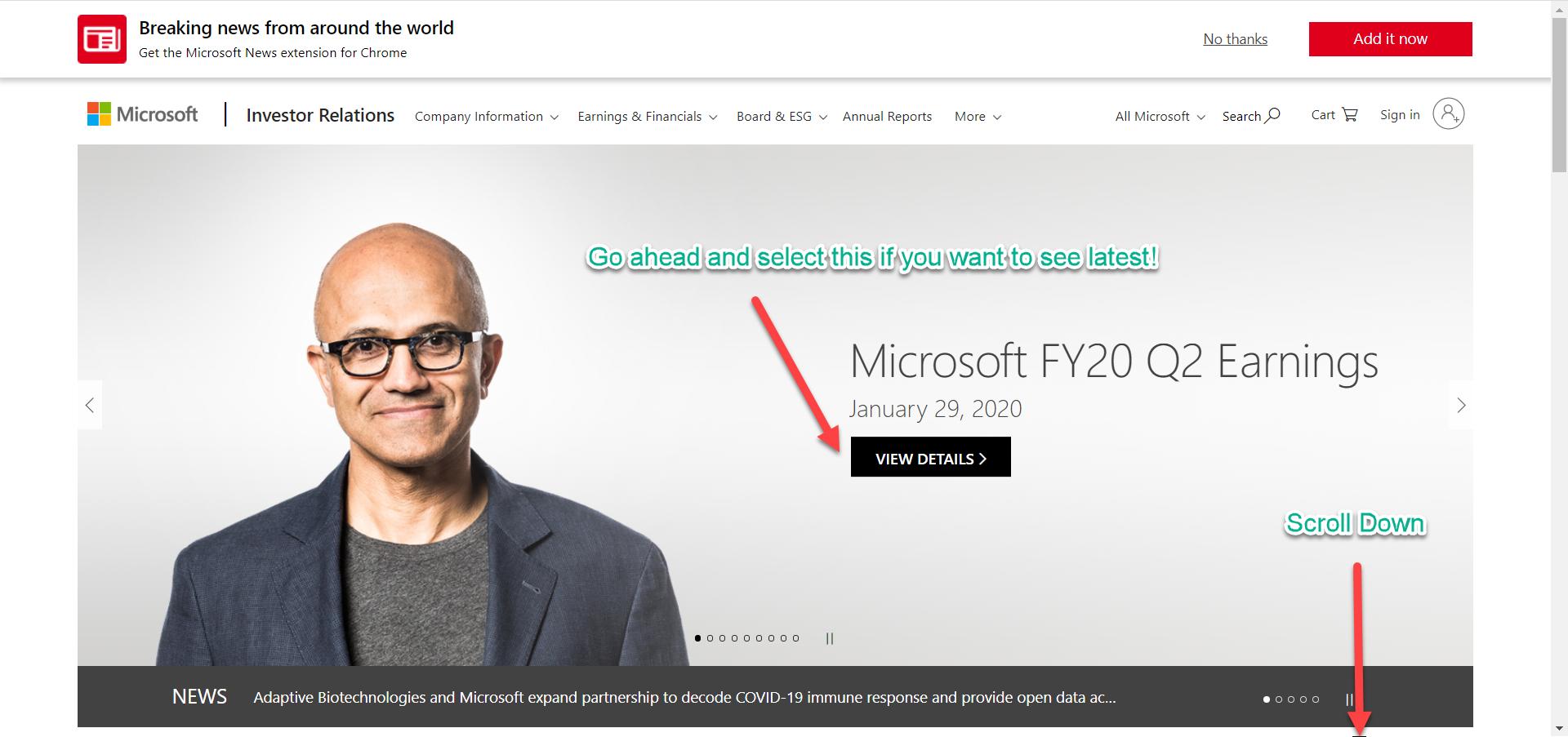 Microsoft Investors Top